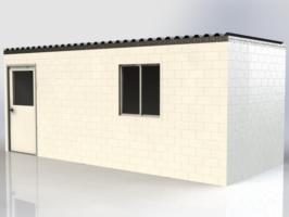 """Modulare Büros auf Baustellen, Bohrplätzen und vor allem an entfernten Standorten sind mit EverBlock® möglich, die wir kompakt an den Wunsch-Standort liefern. Die obige Einheit enthält 6 Standard 40""""x48""""x72""""-Paletten. Es passen 3+ Einheiten in einen Standard-40Fuß-Seecontainer und 4+ Einheiten in einen Standard-48Fuß oder 53Fuß-Truck."""